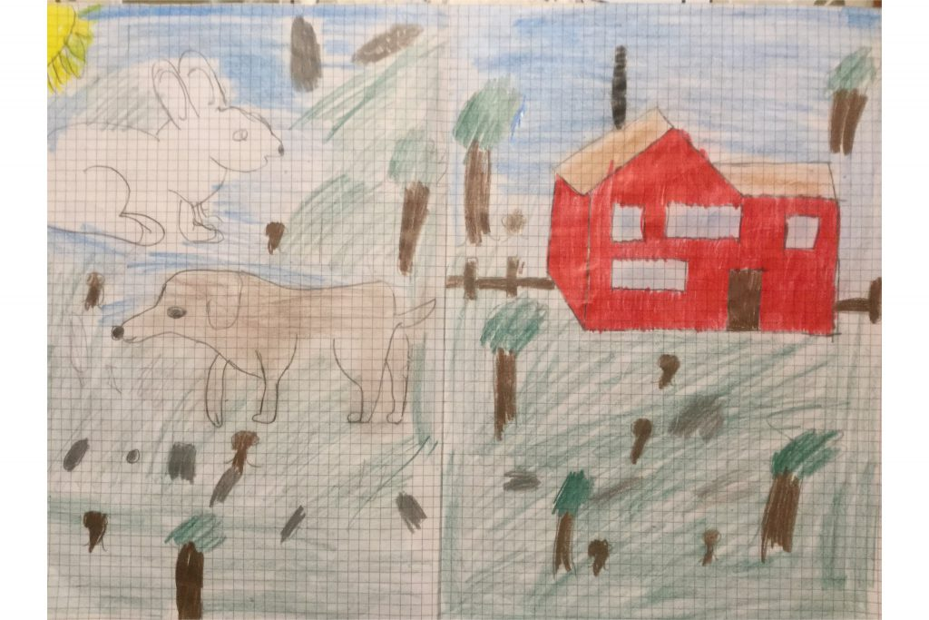 Artwork from the book - Animals stories for kids by Ornella Palazzo - Illustrated by The students of classes 1A/1B of Palombara Sabina school, Rome - Ourboox.com