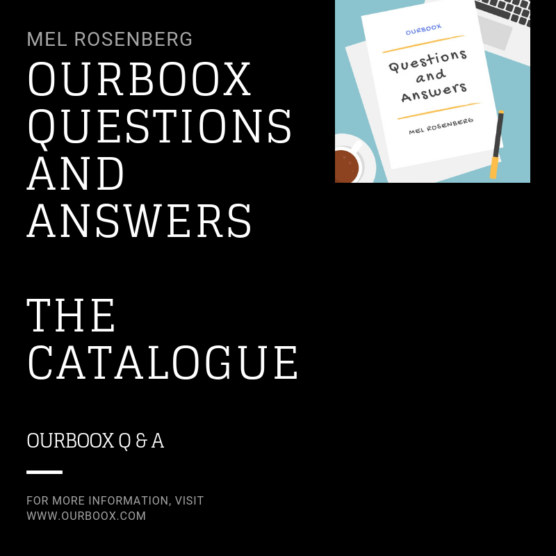 Artwork from the book - Ourboox Questions and Answers – The Catalogue by Mel Rosenberg - מל רוזנברג - Ourboox.com