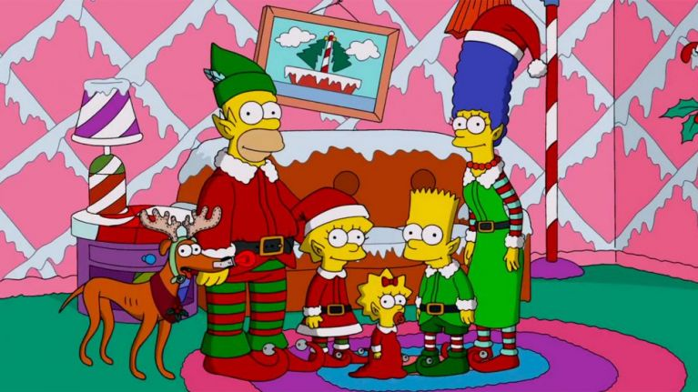 Artwork from the book - The Simpsons Stories: Happy Christmas by Darcy May Partridge - Ourboox.com