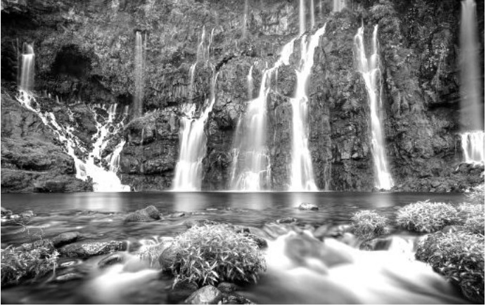 """This is """"Grand Galet"""", the great waterfalls we can visit in Saint-Joseph. Il s"""