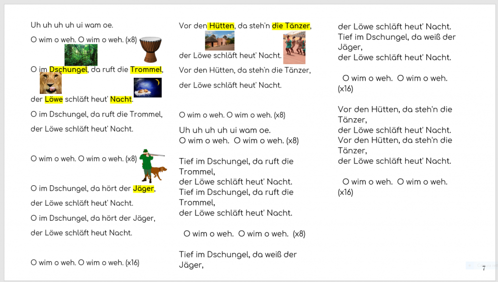 Artwork from the book - Clil: Musik und Deutsch durch Spaß und Computer by Dania Zamarian - Illustrated by Dania Zamarian - Ourboox.com