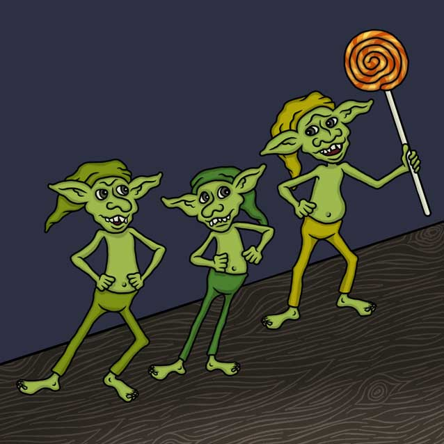 The Three Goblins by Nick Baker - Illustrated by Sadie Giraud - Ourboox.com