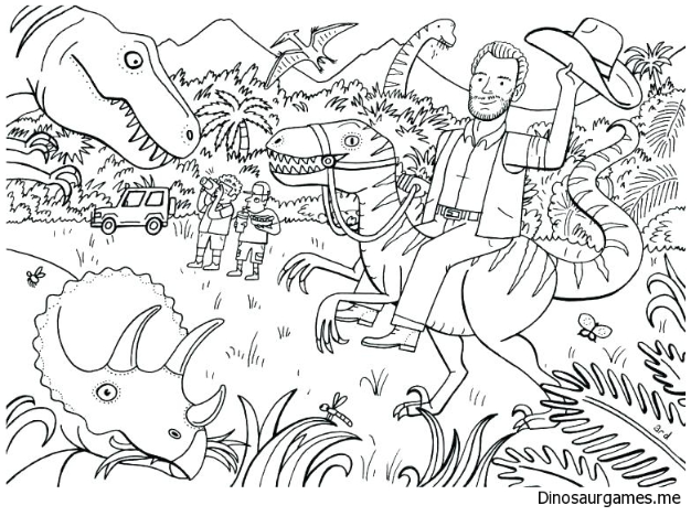 Jurassic World 42 Printable coloring pages for kids | Dinosaur ... | 468x626