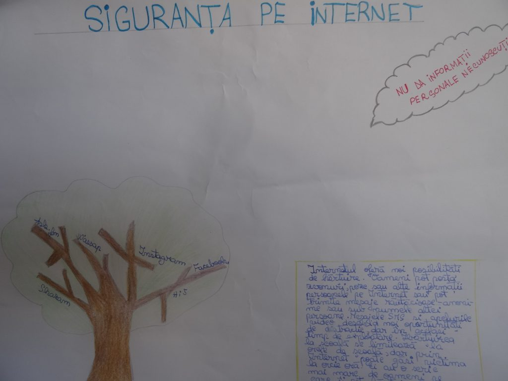 Artwork from the book - Safer Internet Day 2019 by Anamaria Golumbeanu - Illustrated by 6th grade students of ION TUCULESCU Secondary School, Craiova, Romania - Ourboox.com