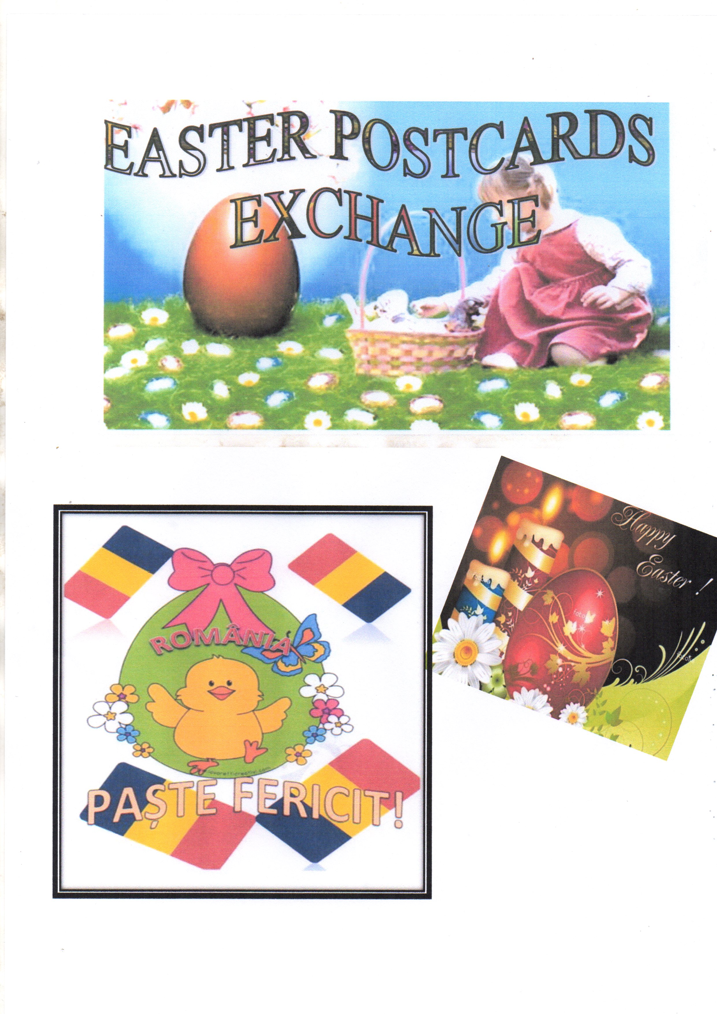 EASTER POSTCARDS EXCHANGE by DRĂGHIN ANIȘOARA - Illustrated by ANISOARA  DRAGHIN - Ourboox.com