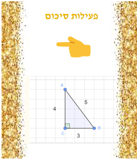 Artwork from the book - משפט פיתגורס – כיתה ח' מגישה: קבוצה מס' 1 by Nadia - Ourboox.com