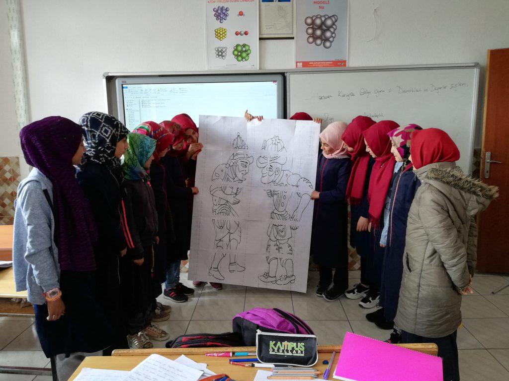 Artwork from the book - Karagöz Hacivat Gölge Oyunu ile Demokrasi ve Değerler Eğitimi by gulsunbican - Ourboox.com