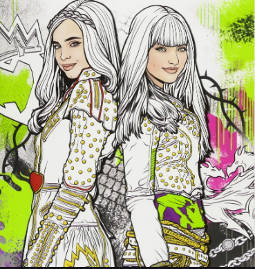 Artwork from the book - Descendants Coloring Books by ColoringPagesOnly.Com  - Ourboox.com