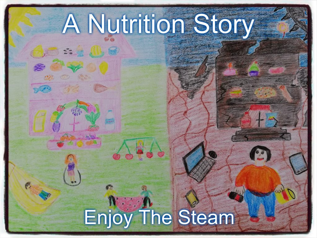 Artwork from the book - A Nutrition Story by Levent TOROS - Ourboox.com