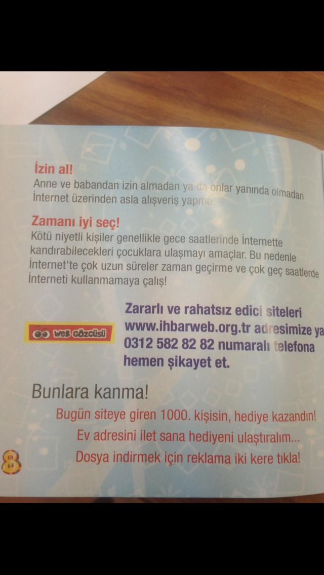 Artwork from the book - Güvenli İnternet by filiz yılmaz - Ourboox.com