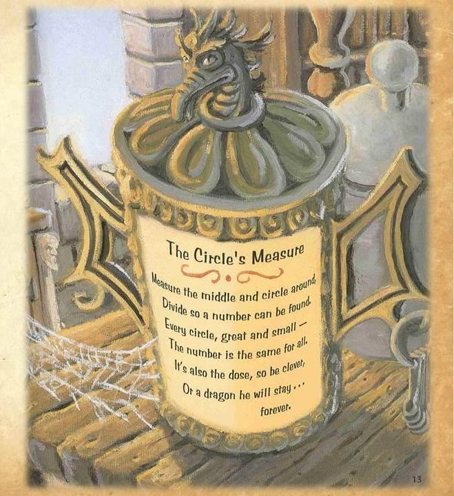 Artwork from the book - Сър Къмфърънс и драконът на Пи – Математическа приказка by Лили Станева - Ourboox.com
