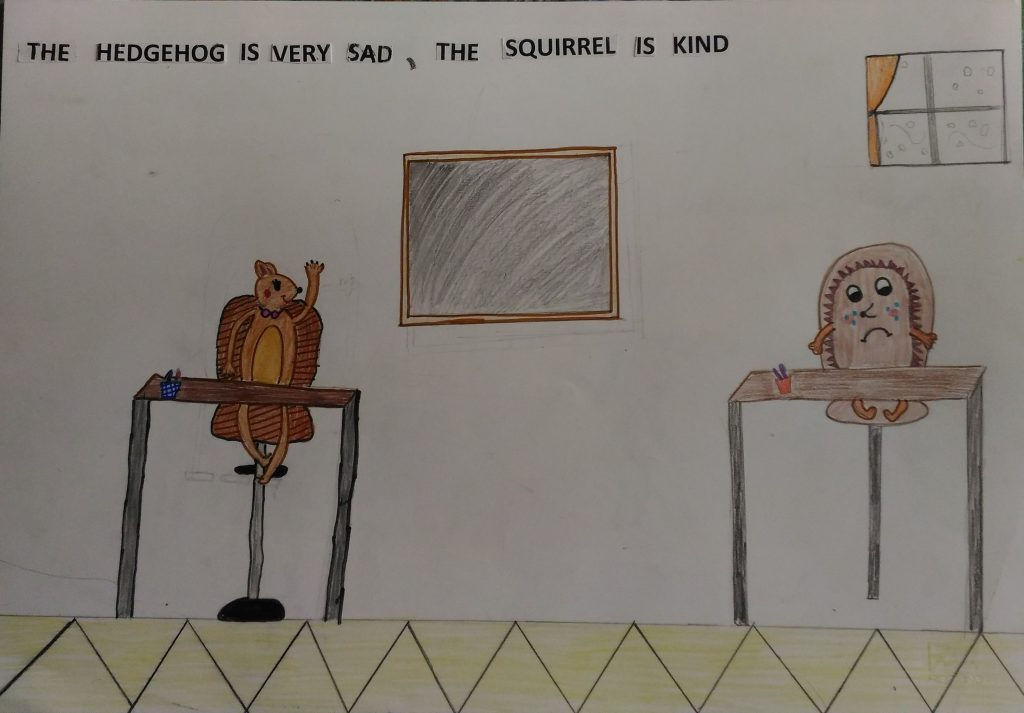"""Artwork from the book - A new friend…by 4^C by Anna De Santis - Illustrated by 4^C """"G. Mazzini"""" - Ourboox.com"""