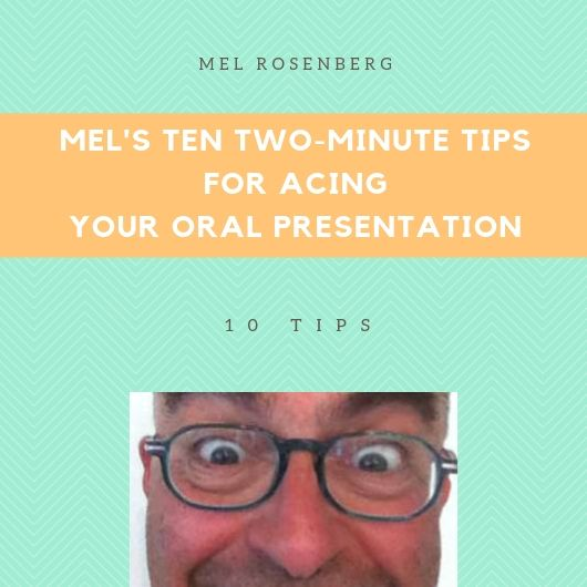 Artwork from the book - Mel's Ten Two-Minute Tips for Acing Your Oral Presentation by Mel Rosenberg - מל רוזנברג - Ourboox.com