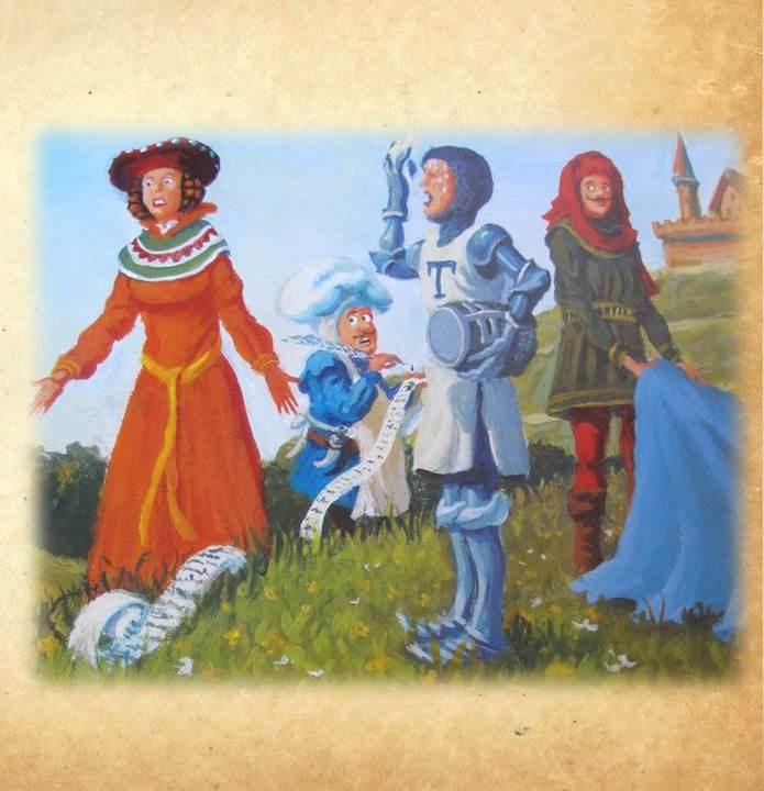 Artwork from the book - Сър Къмфърънс и кралските десетици – Математическа приказка by Лили Станева - Ourboox.com
