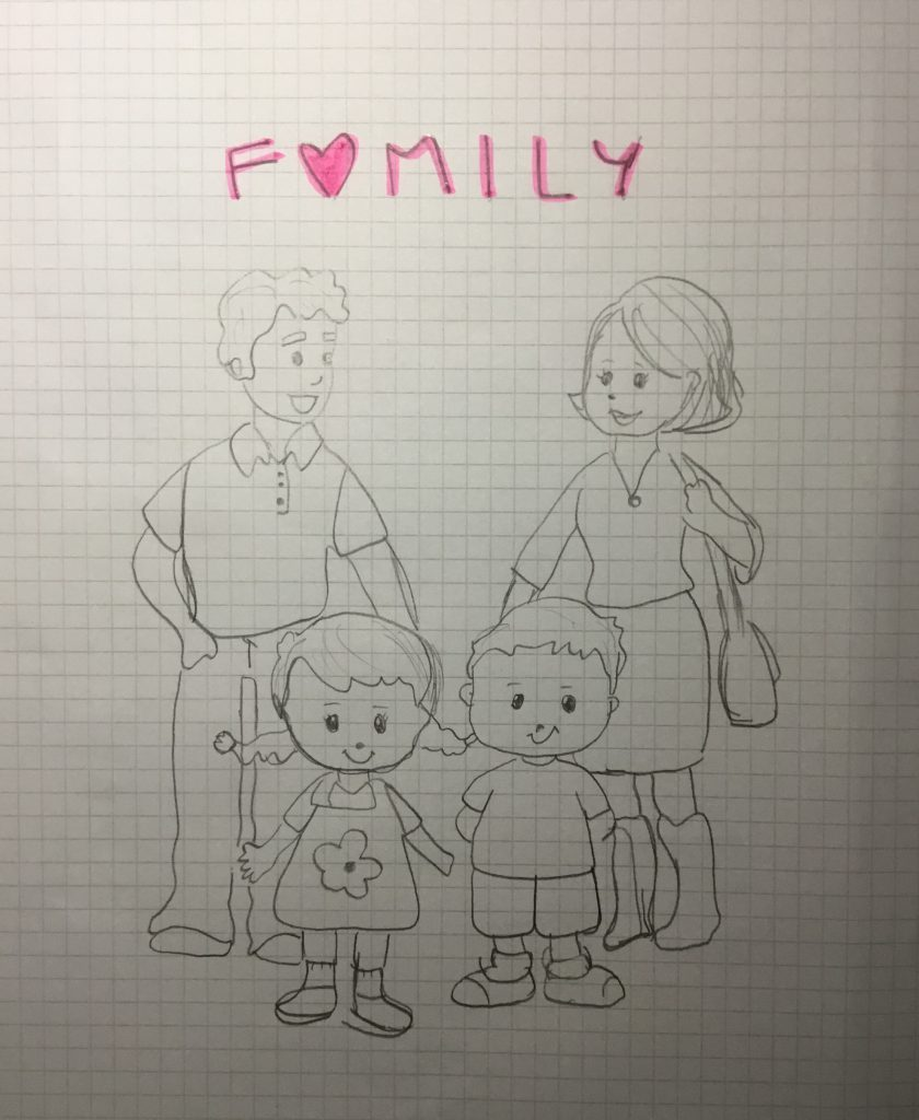 Meine Familie und ich by Vittoria - Illustrated by Vittoria Giacomelli - Ourboox.com