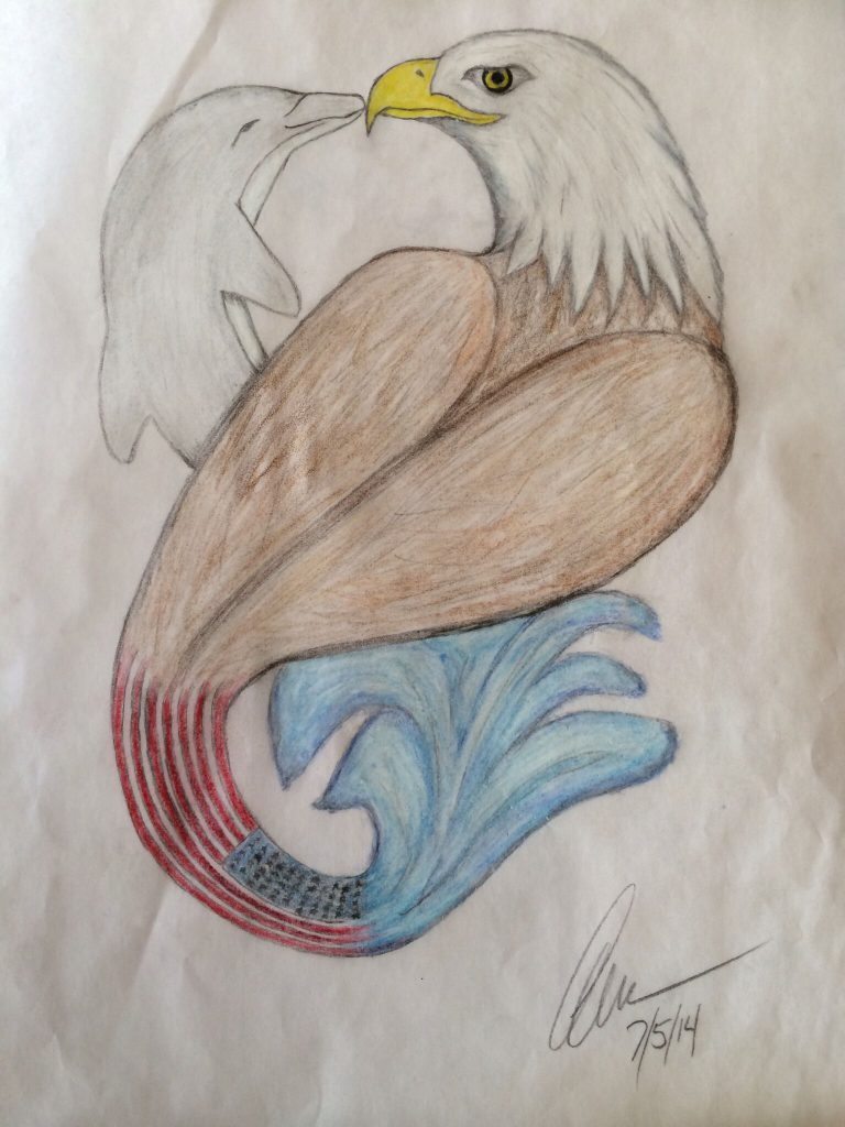 The Dolphin and The Eagle by Makenna - Illustrated by Anna Foss Moore - Ourboox.com