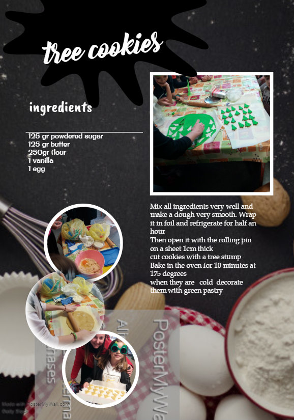 Tree Ring Cookies – Christmas Tree Cookies- Τree Τrunk Cake by elhatzist - Illustrated by    by kids  that are involved in the etwinnig programme eTreeHuggers - Ourboox.com