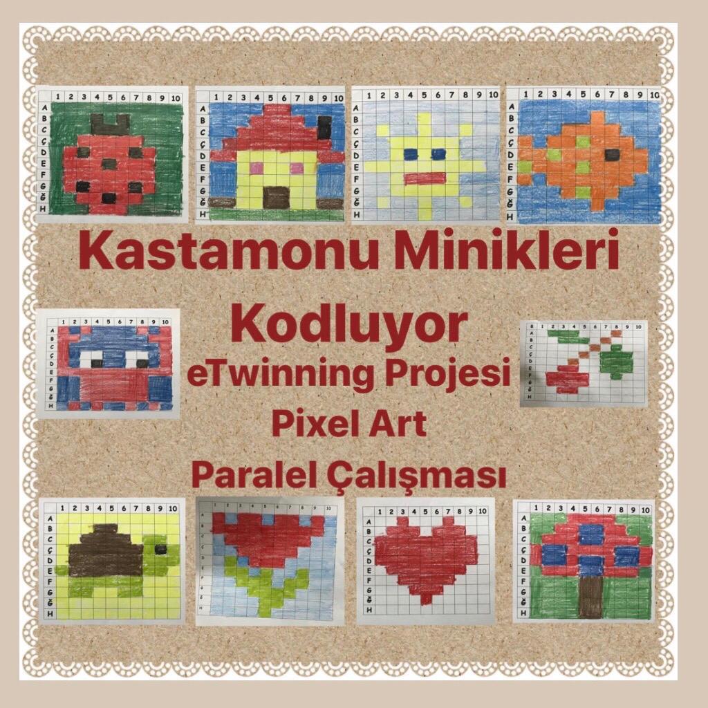 Kastamonu Minikleri Kodluyor eTwinning Projesi Pixel Art Kitapçığı by Ülkü BEKAR - Illustrated by Buket Yağmur DİLDAR - Ourboox.com