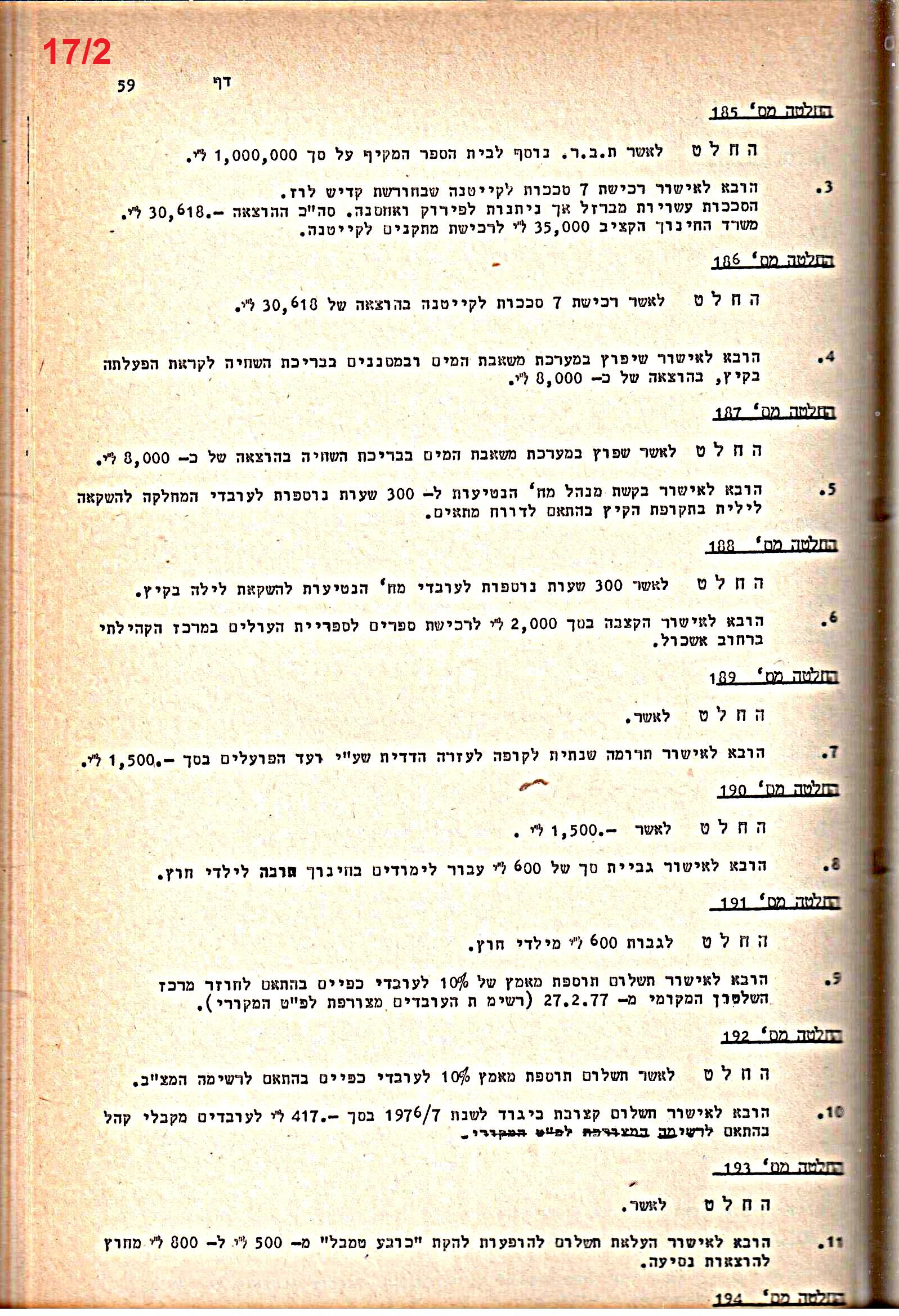 פרוטוקולים 20 – ועדות (כספים) – 22.11.78 – 22.8.76 by riki deri - Illustrated by  מוזיאון בית גרושקביץ / כרך 20 - Ourboox.com