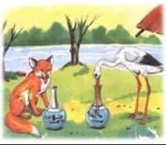 הַשּׁוּעַל וְהַחֲסִידָה by Leah Levy - Illustrated by לה פונטיין - Ourboox.com