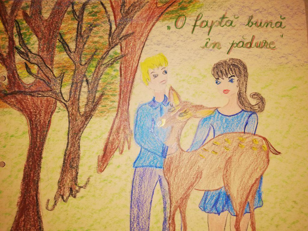 """O fapta buna in padure by Coman Marinela - Illustrated by ,,Gărgăriţele""""-GPP NR.9  BUZĂU  - Ourboox.com"""