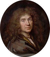 Уважно роздивіться портрет Мольєра, опишіть його.