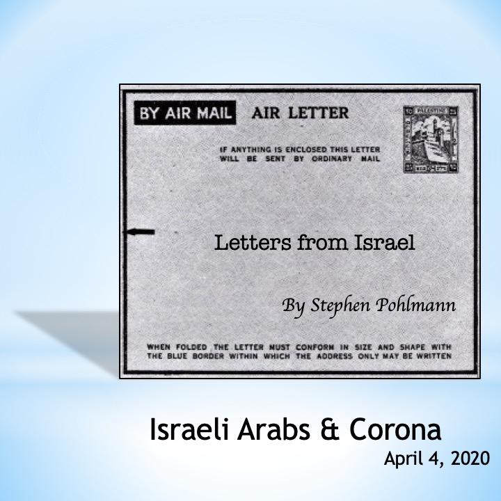 # 357 – Israeli Arabs & Corona by Stephen Pohlmann - Ourboox.com