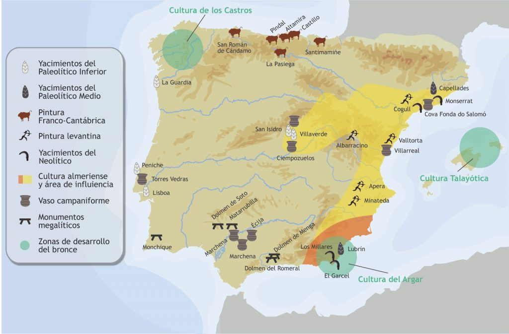 mapa paleolitico