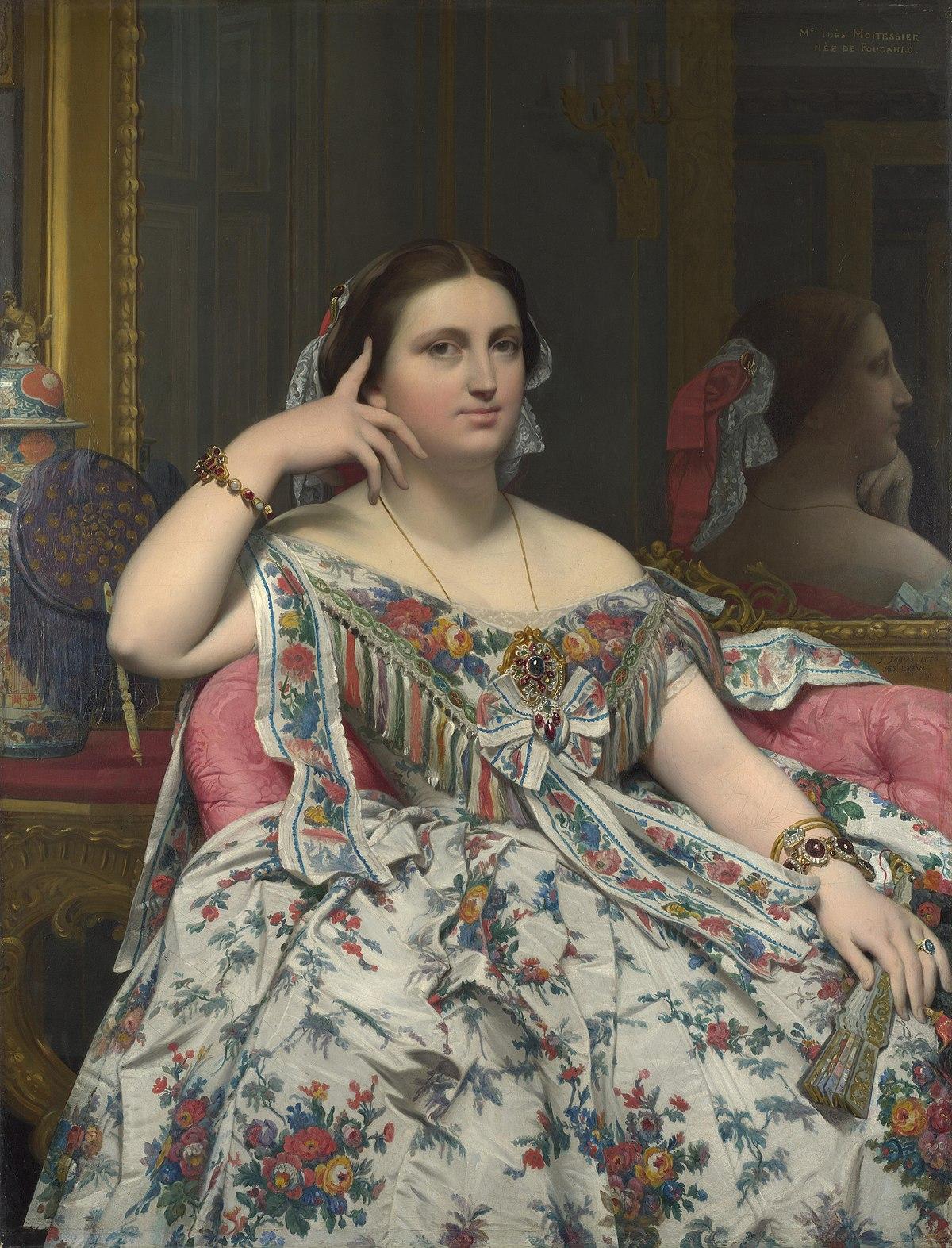 Ingres, Madame Moitessier, 1856. Olio su tela 120x92 cm. Londra, National Gallery