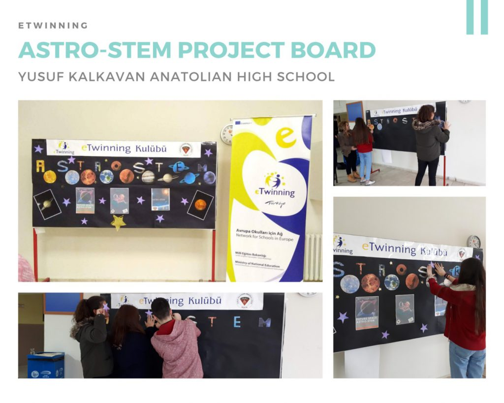 ASTRO-STEM Our Project Story by Gonca BAHAR - Illustrated by YUSUF KALKAVAN ANADOLU LİSESİ - Ourboox.com