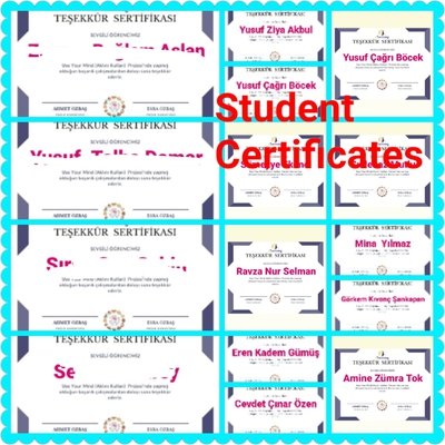 Gönül Students Certificates