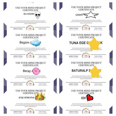 student certificates