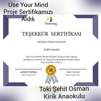 Use Your Mind Project Certificates by Bilge Yilmaz - Illustrated by Bilge Yılmaz - Ourboox.com