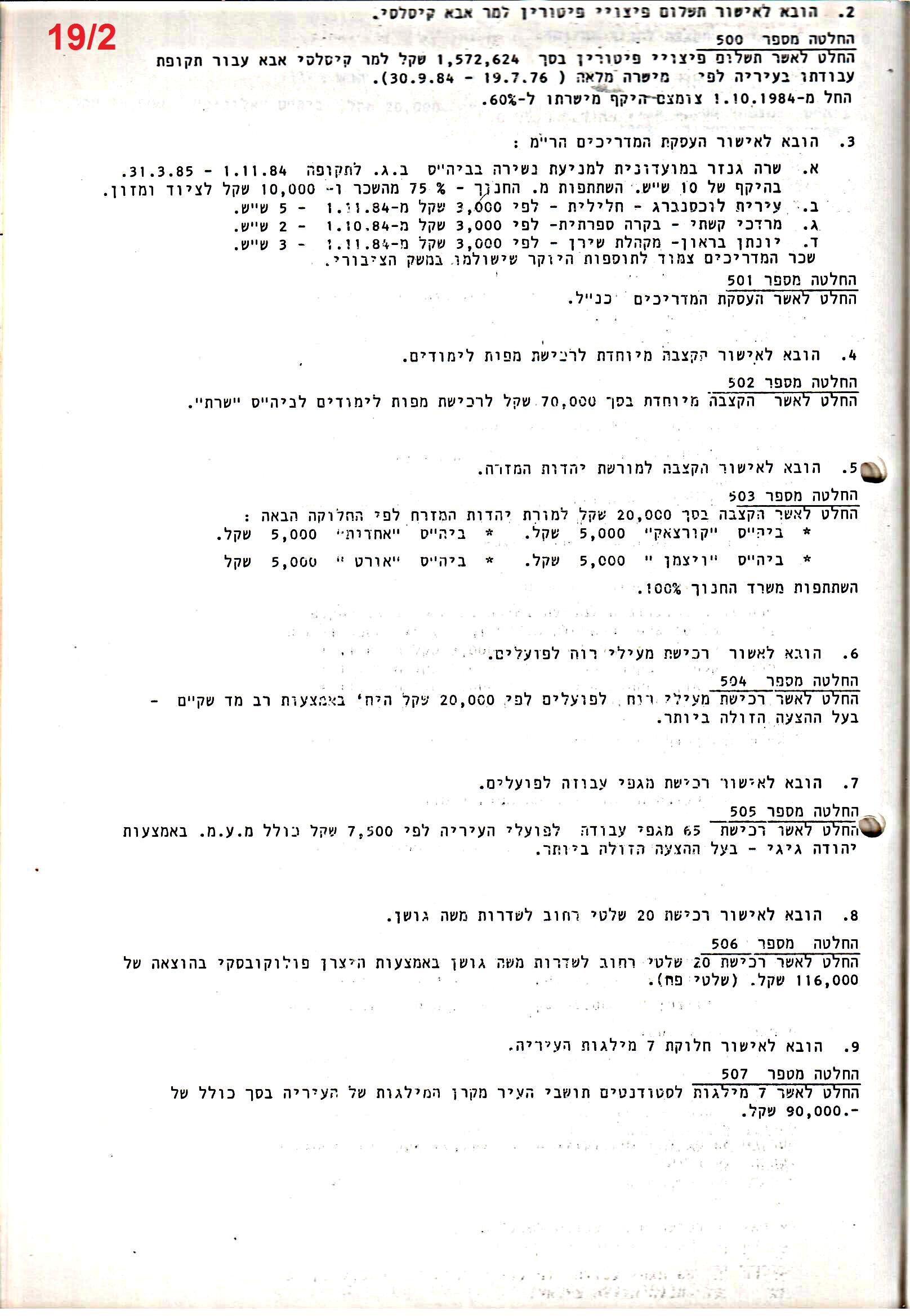 פרוטוקולים 22 – ועדות – 8.4.87 – 26.12.83 כספים by riki deri - Illustrated by  מוזיאון בית גרושקביץ / כרך 22 - Ourboox.com