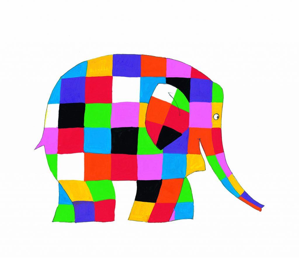 Giochiamo con Elmer, l'elefante variopinto