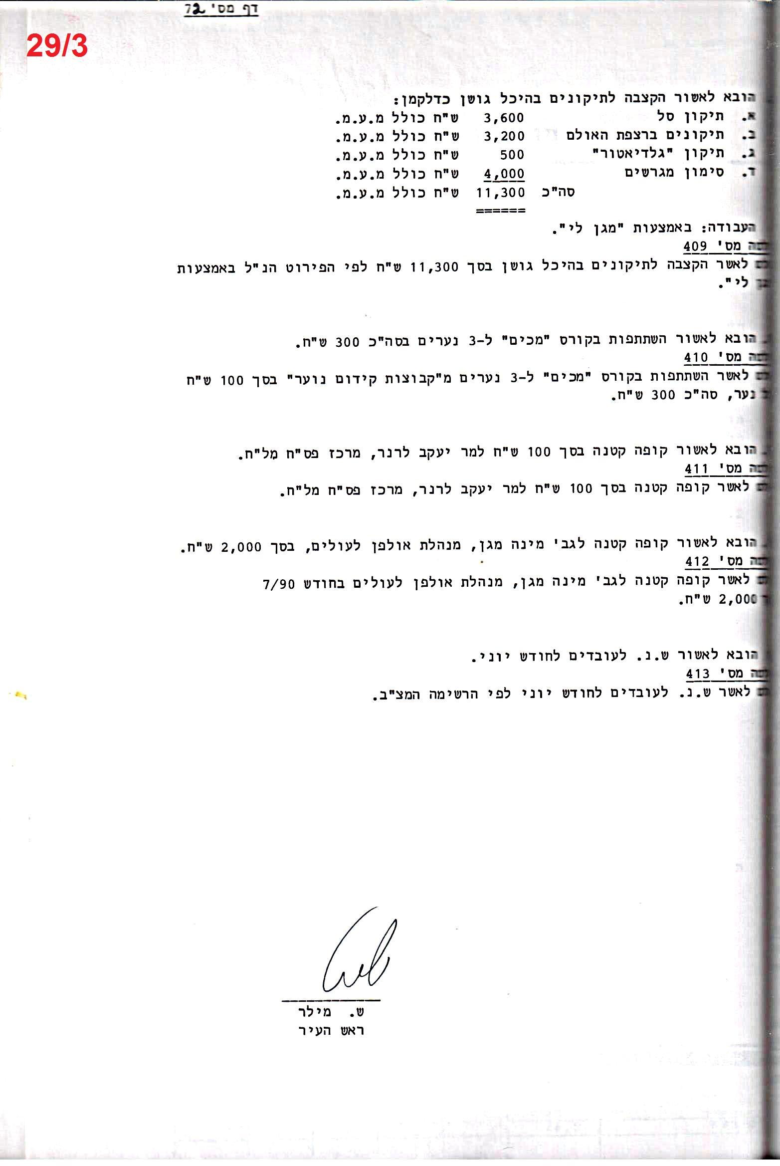 פרוטוקול 24 – ועדות – 17.6.91 – 11.5.89 כספים by riki deri - Illustrated by  מוזיאון בית גרושקביץ / כרך 24 - Ourboox.com