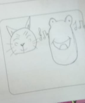 The Happy Frog and the Sad Cat by Abeer Abbas - Illustrated by Fourth Grade - Ourboox.com