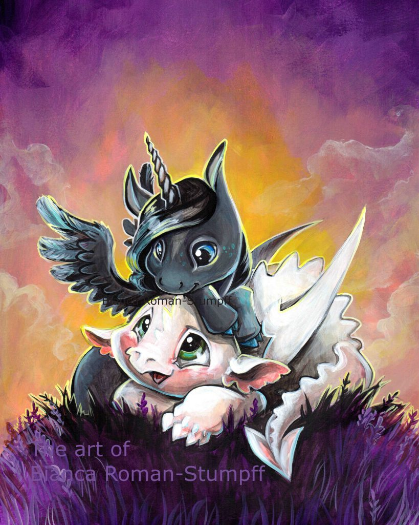 dragons and unicorns by Siobhan OToole - Illustrated by Unicorn girl 8 - Ourboox.com