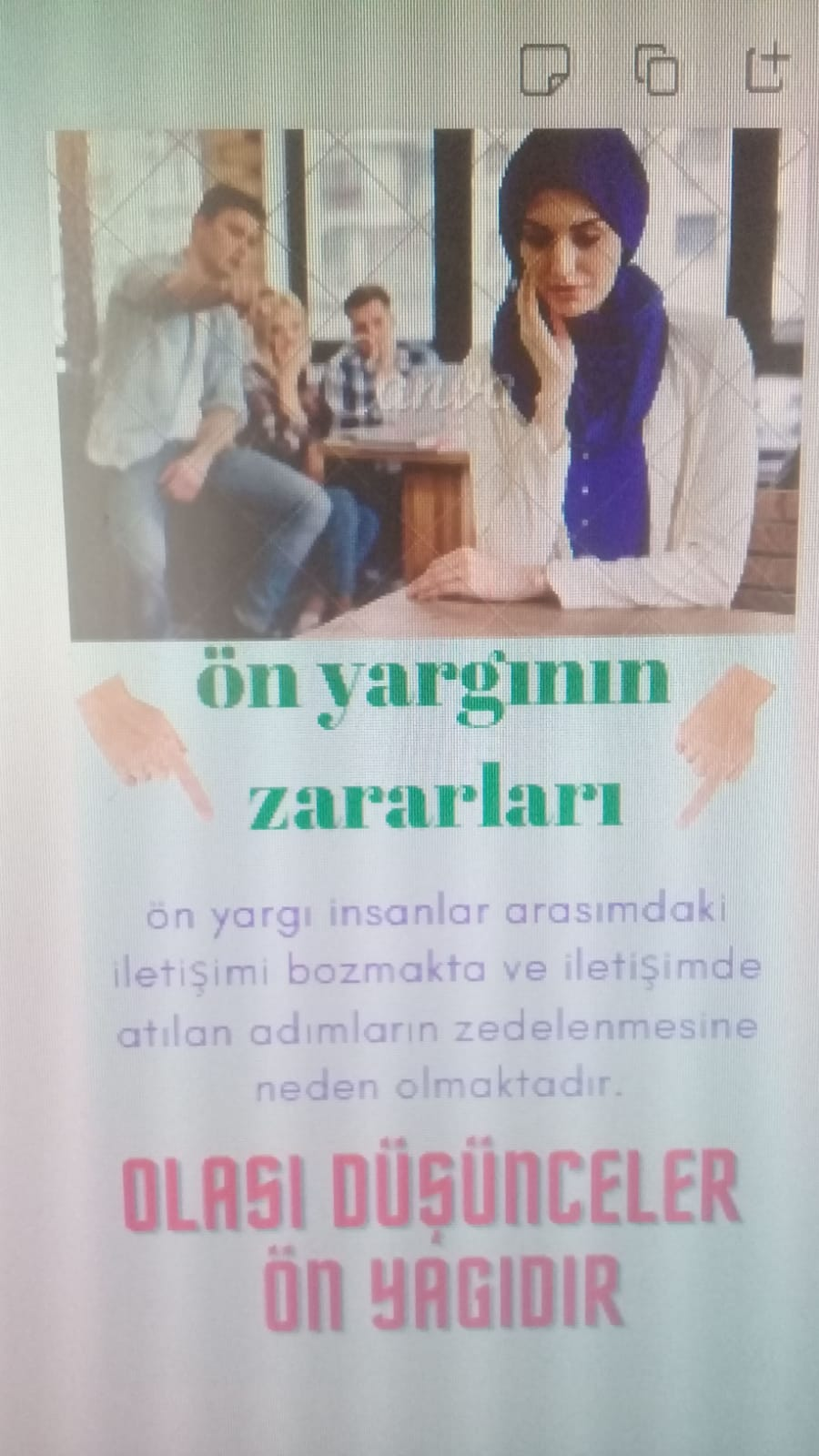 İLETİŞİMİ ETKİLEYEN OLUMLU YA DA OLUMSUZ FAKTÖRLER by Zühre TARIK - Ourboox.com