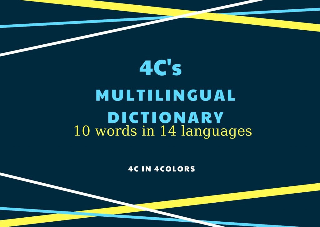 4C in 4Colors Multilingual Dictionary by secilsecil - Illustrated by 4C in 4Colors eTwinning Project - Ourboox.com