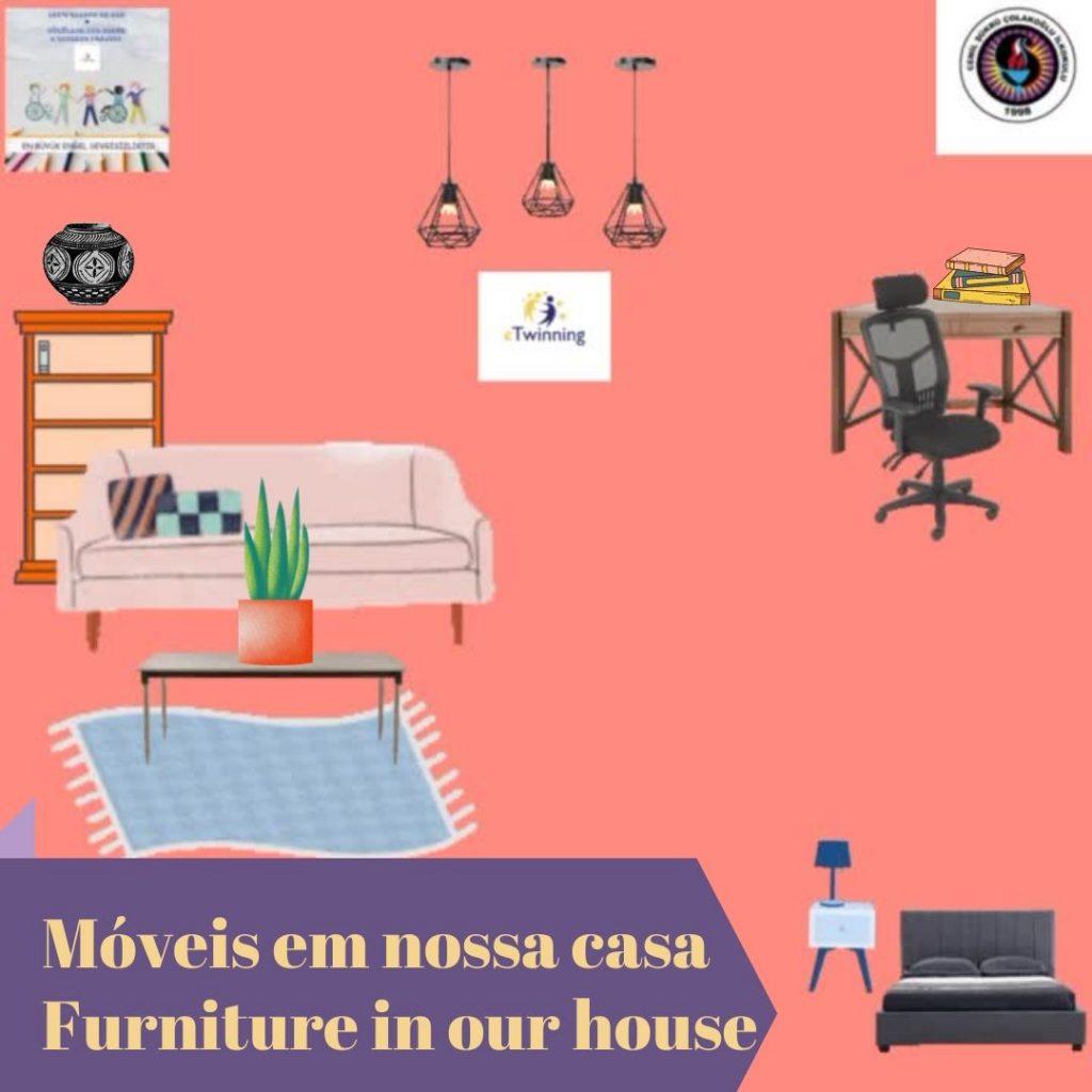 Móveis em nossa casa — Furniture in our house by gönüller bir olsun e Twinning project - Illustrated by Şükran Yenigelen & Carla Cordeiro - Ourboox.com