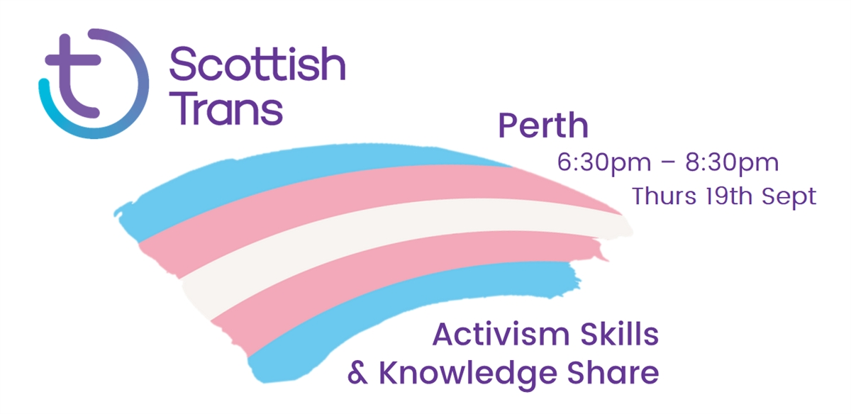 Scottish Trans Activism Skills & Knowledge Share - Perth tickets