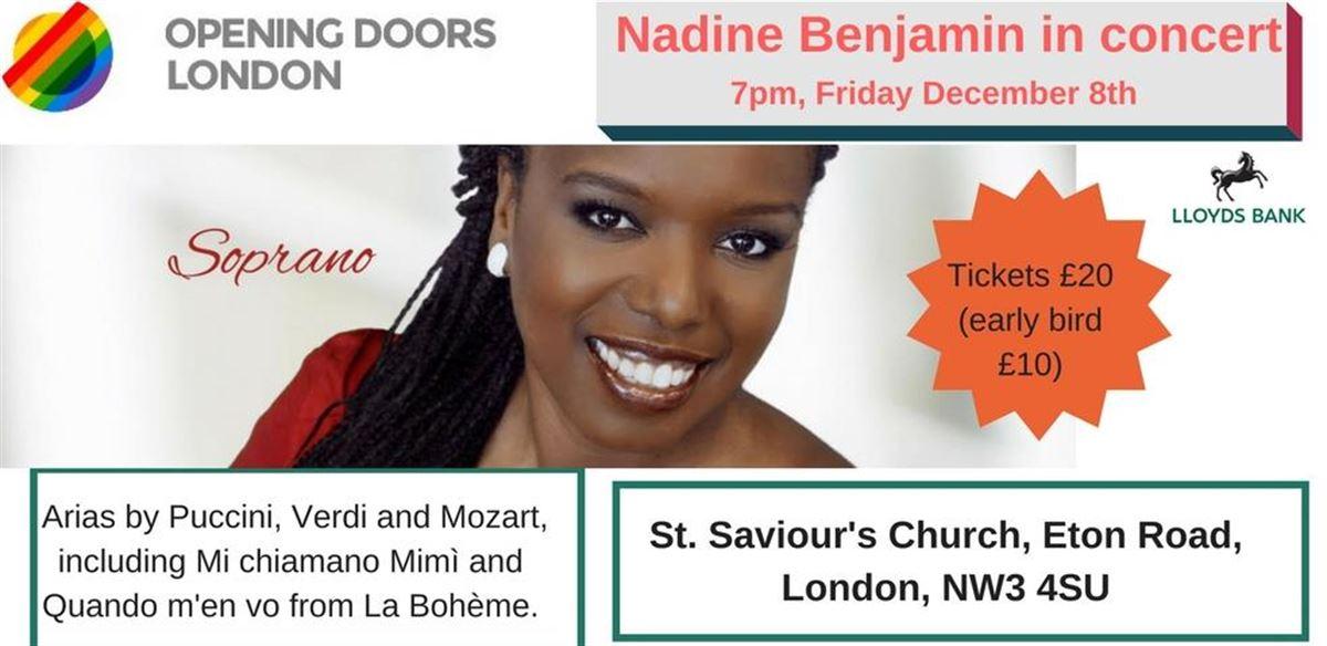 Nadine Benjamin in Concert tickets