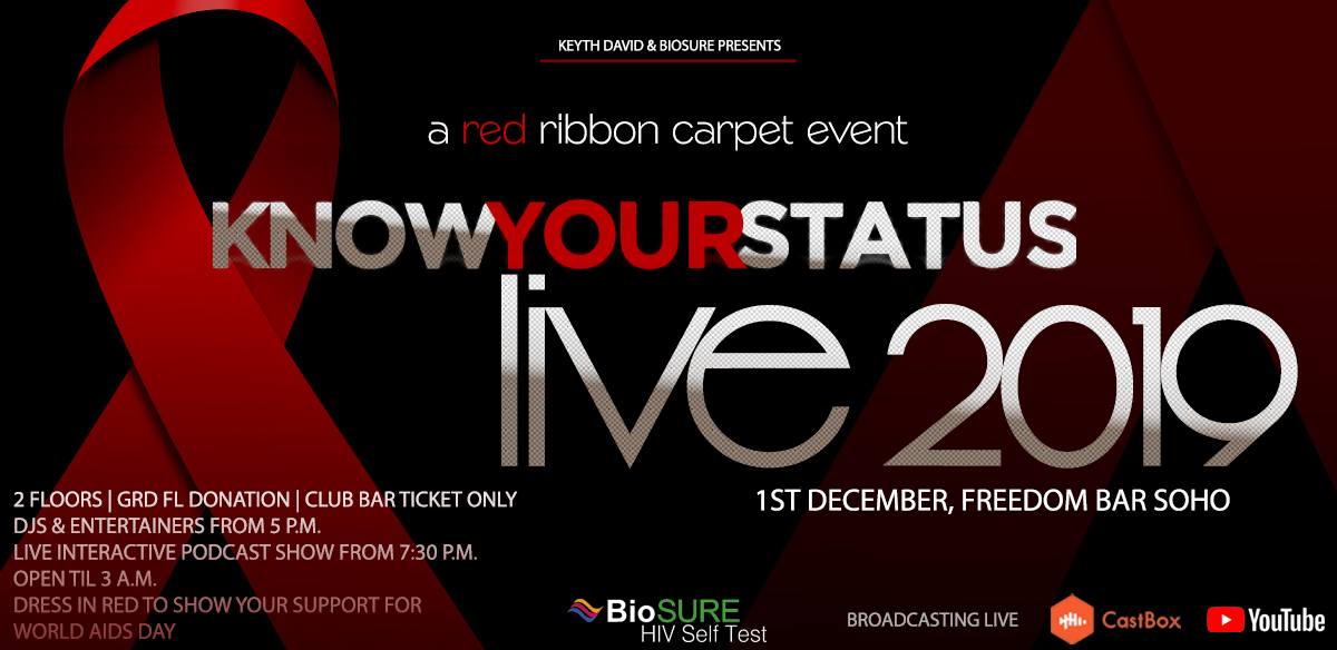 Know Your Status Live 2019 : A Red Ribbon Carpet Event. World Aids Day tickets
