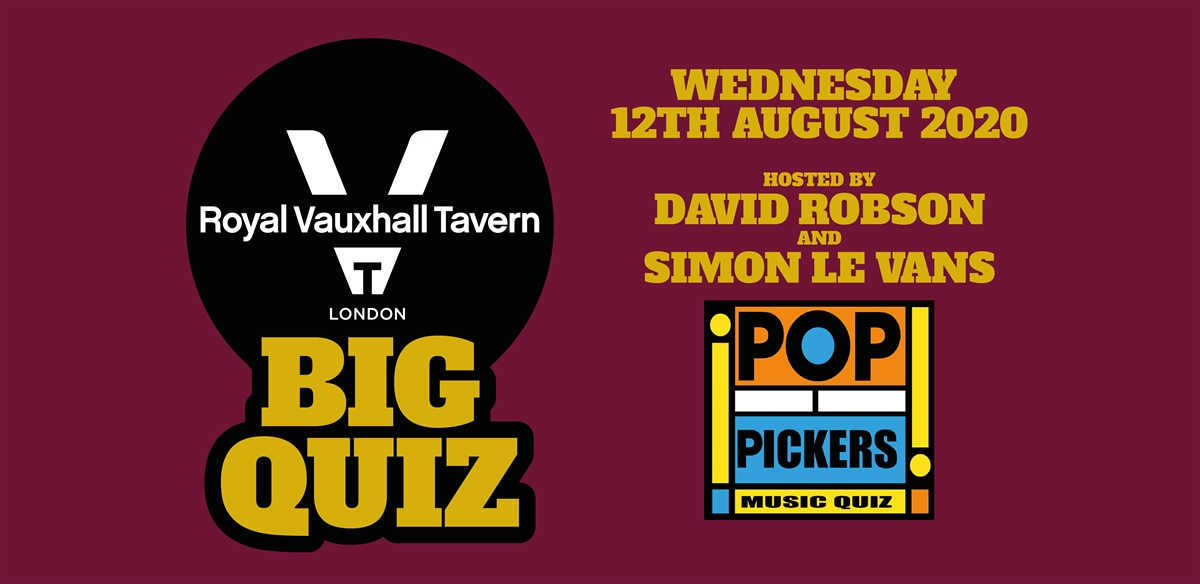 RVT Big Quiz - Pop Pickers tickets