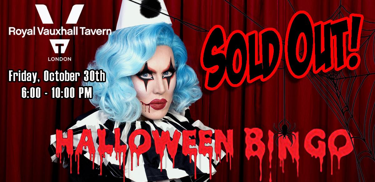 Halloween Bingo at The RVT tickets