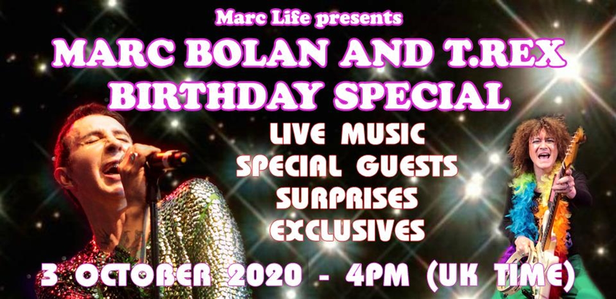 Marc Almond presents Marc Bolan and T Rex Birthday Special tickets