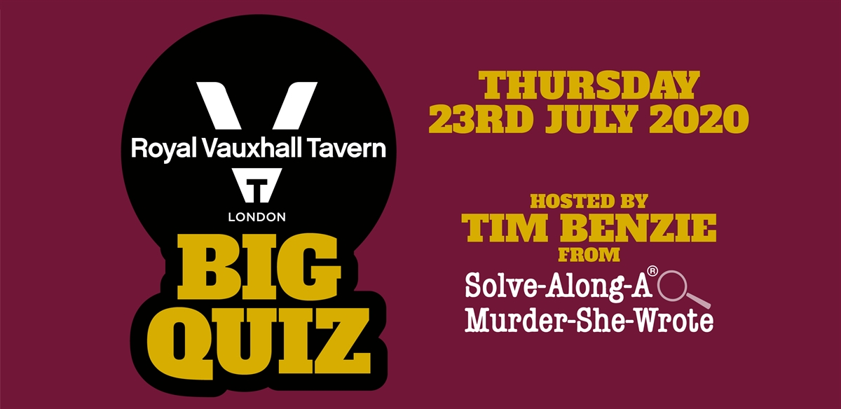 The RVT Quiz with guest host Tim Benzie (Solve-Along-A-Murder-She-Wrote) tickets
