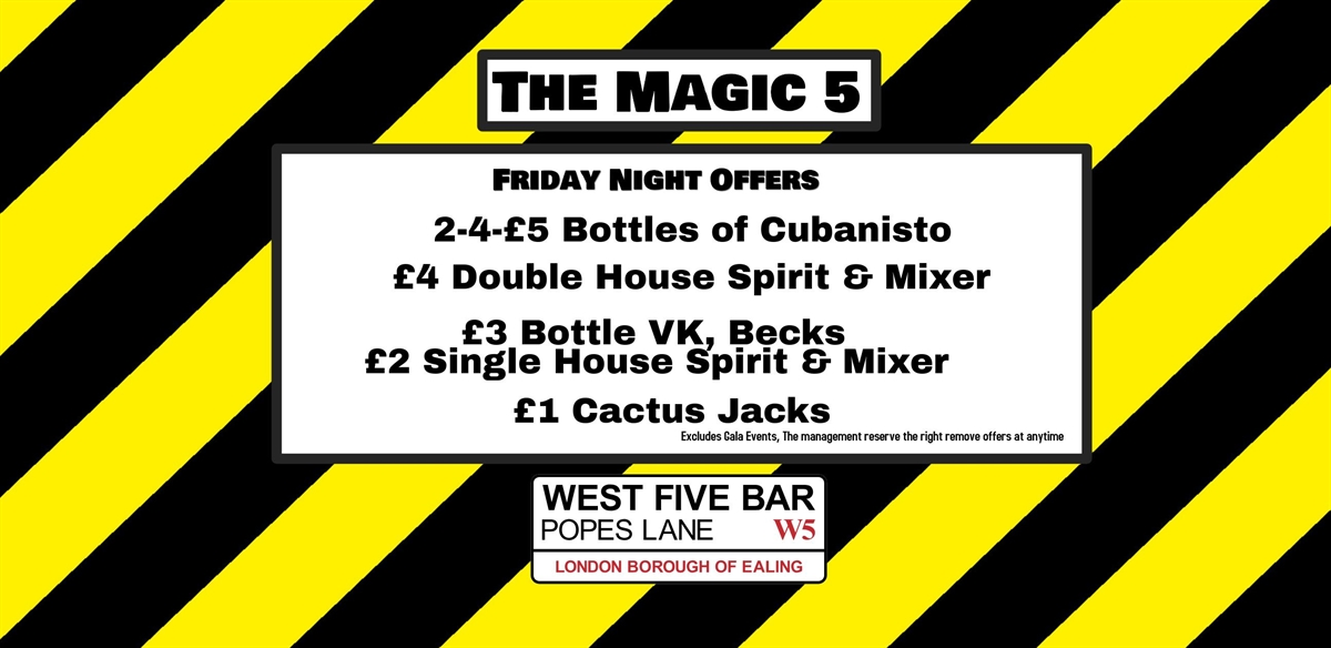 the Magic 5 with DJ Robby tickets