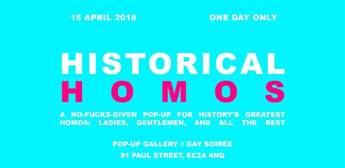 Historical Homos Pop-Up Gallery + Gay Soirée